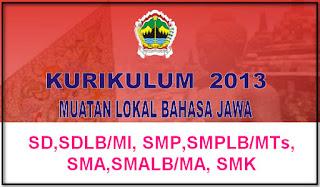 MULOK BAHASA JAWA KURIKULUM 2013 SD,SDLB/MI, SMP,SMPLB/MTs, SMA,SMALB/SMK