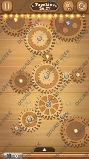 Fix it: Gear Puzzle [TapeLine] Level 27 Solution, Cheats, Walkthrough for Android, iPhone, iPad and iPod