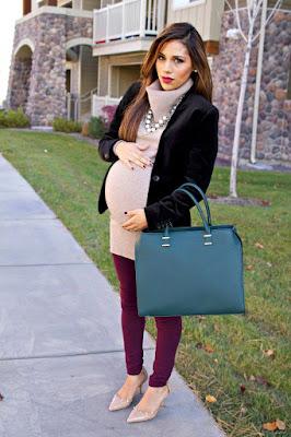 Jak modnie ubierać się w ciąży jesienią 2018 - stylizacje dla przyszłych mam