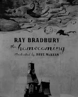 A photo of the cover of a novel by Ray Bradbury