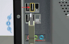 memasang kabel mouse USB ke CPU komputer