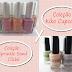 Coleção Kiko Cupcake X Coleção Sprinkle Sand Cliché
