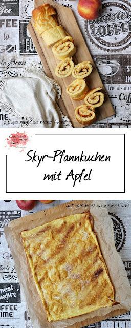 Süßer Skyr-Pfannkuchen mit Apfel | Rezept | Essen | Kochen | Eierspeise | Weight Watchers