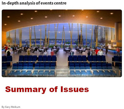 Analysis of events centre