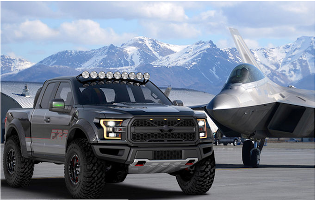 Ford customiza una F-150 Raptor como un F-22