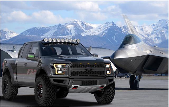 Ford customiza una F-150 Raptor como un F-22