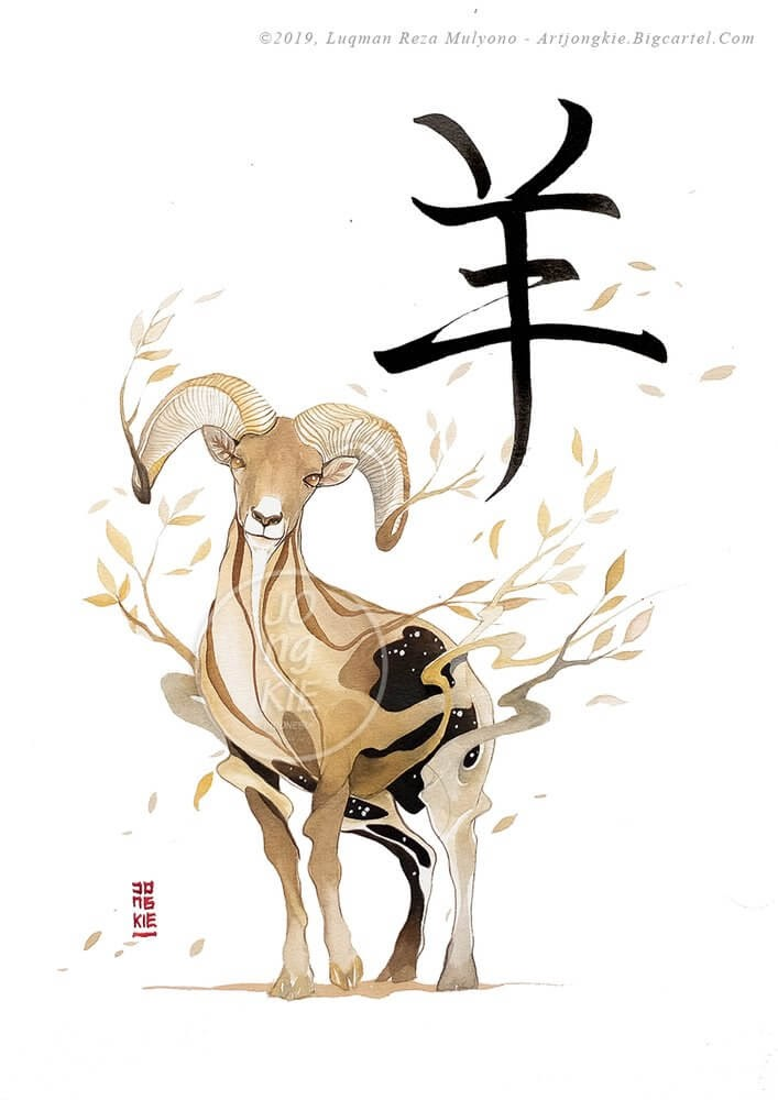08-The-Ram-jongkie-Year-of-the-Pig-Chinese-New-Year-Zodiac-Drawings