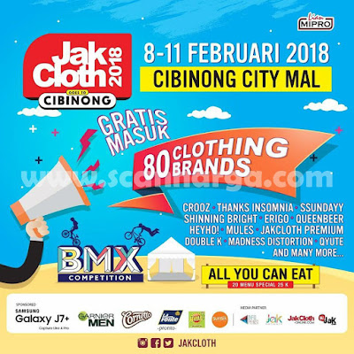 Jakcloth Goes To Cibinong City Mall Bogor 8-11 Februari 2018
