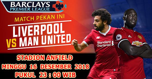 Ini Jadwal Lengkap Liga Inggris Pekan Ke 17 : Liverpool VS MU