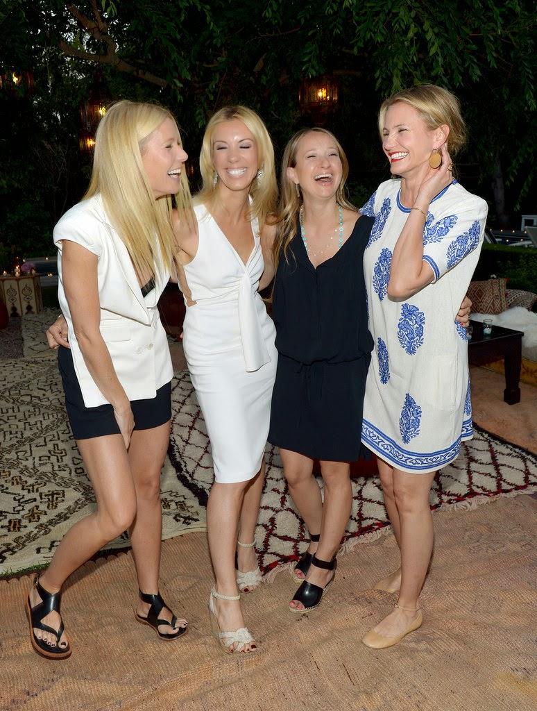 Gwyneth Paltrow Celebrates Birthday With Chris Martin And Celebrity Pals ( PHOTOS)