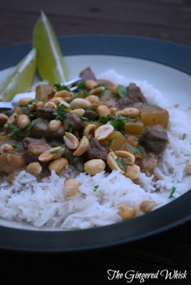 Masaman Beef Curry - The Gingered Whisk - Easy Weeknight Thai Recipe with real ingredients