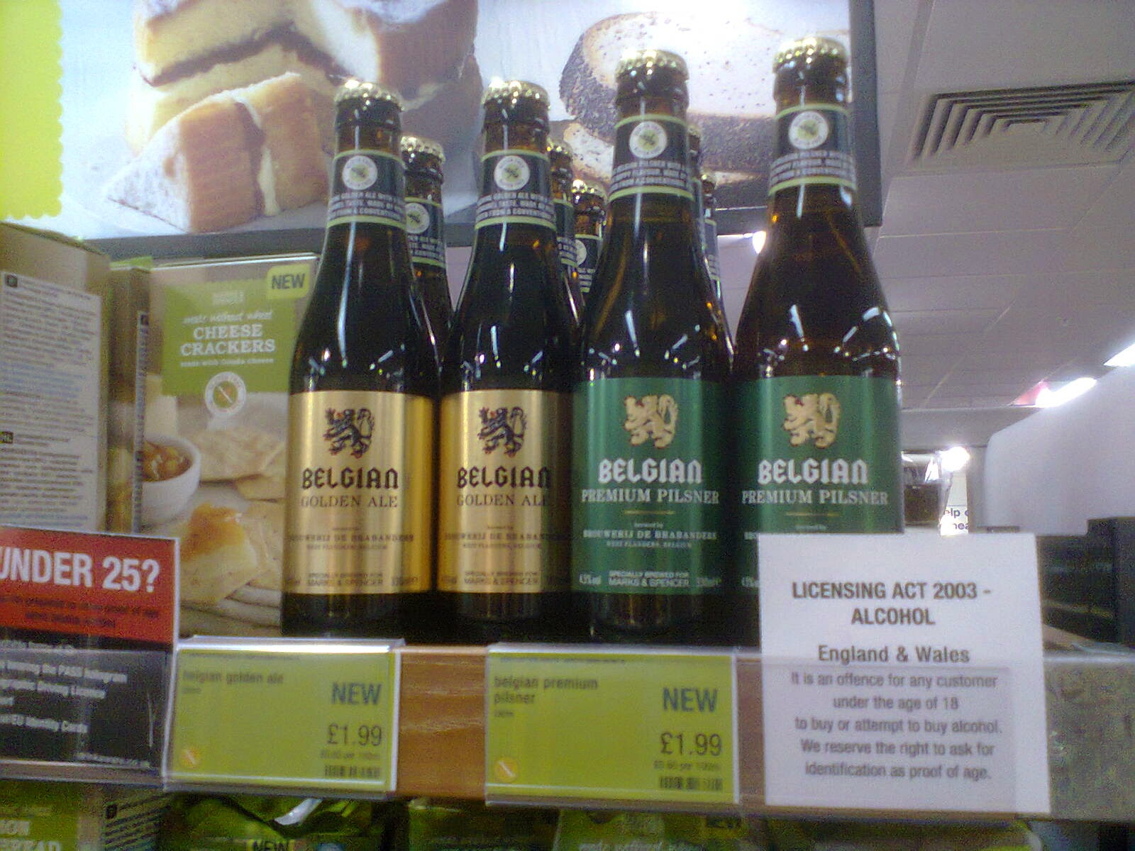 Gluten Free beer at Marks and Spencer