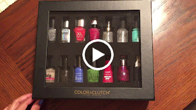 video of the Color Clutch nail polish storage case in black