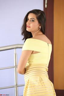 Shipra gaur in V Neck short Yellow Dress ~  048.JPG
