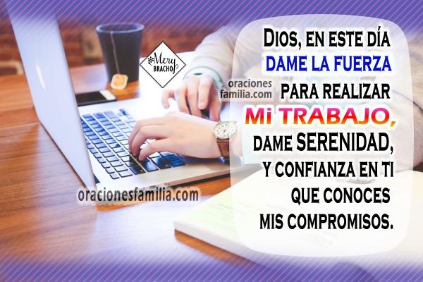 Oración corta por mi trabajo, ayúdame Señor en mi trabajo, labores, planes, proyectos, actividades, reuniones, oraciones cristianas por Mery Bracho.