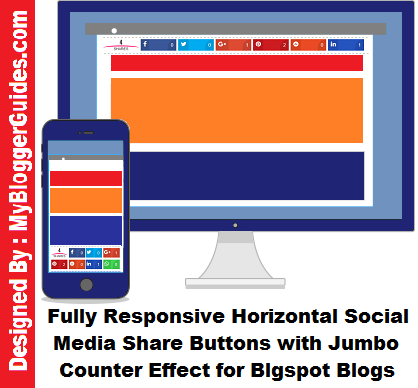 Jumbo Sharing Bar, Horizontal Share Bar, Social Share bar for blogger