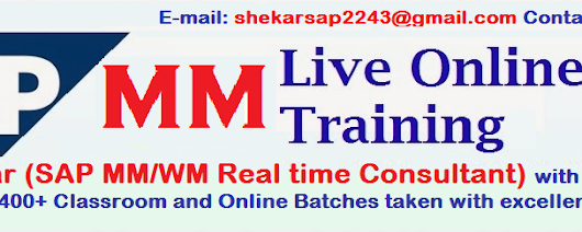 SAP MM WM Online Training