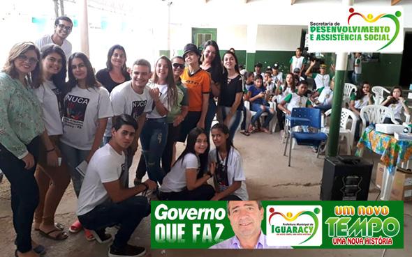 GOVERNO MUNICIPAL: Secretaria de Assistência Social participou de trabalho preventivo contra as Drogas e Infecções Sexualmente Transmissíveis na Escola Dr. Diomedes
