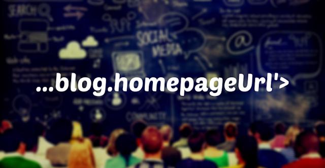 Blogger eklentilerini sadece ana sayfada gösterme