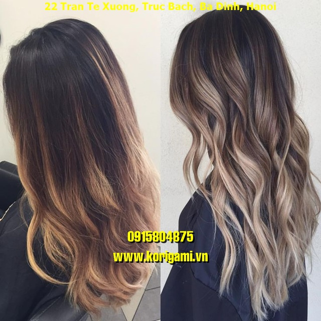 BALAYAGE HAIR COLOR IDEAS FOR WOMEN IN HANOI VIETNAM