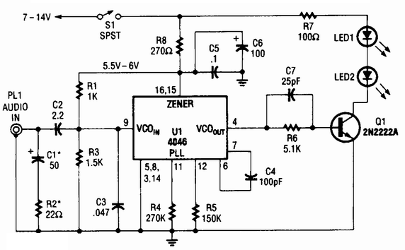 circuit diagram and electronic circuits projects  infrared