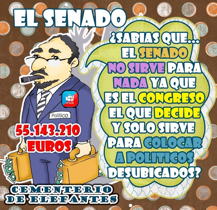 Resultado de imagen de el Senado ESPAÑOL no sirve para nada