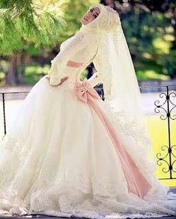 gaun pengantin muslimah ala princess