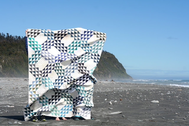 Ocean Waves Quilt by Wooden Spoon Quilts