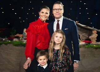 Crown Princess Victoria, Prince Daniel, Princess Estelle and Prince Oscar visited Katarina Church