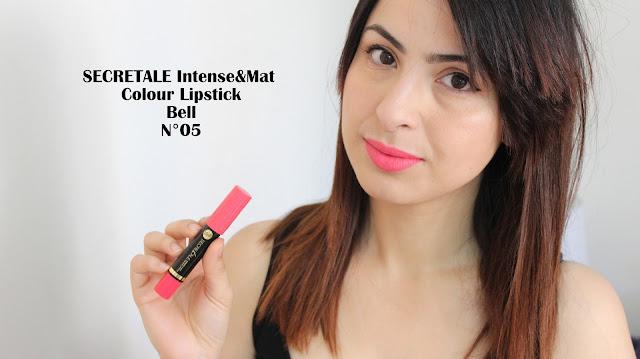 SECRETALE Intense&Mat Colour Lipstick , swatch, jumbo bell, bell cosmétique, le blog d'une tunisienne, blogueuse maghrébine, blogueuse tunisienne, blog, swatch, revue, jumbo pas cher ,