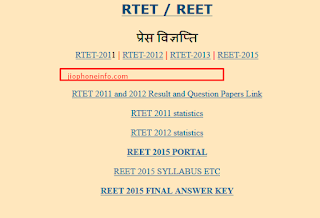 REET Admit Card 2017-18