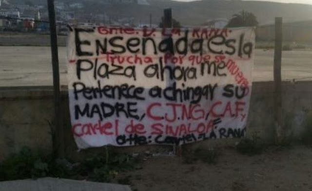 """Sicarios de """"La Rana"""" dejan narcomanta amenazando al CJNG, CAF y CDS en Ensenada"""