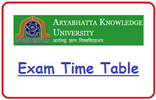 AKU Patna Date Sheet 2021