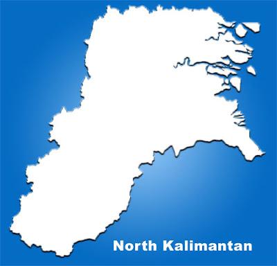 image: North Kalimantan Blank Map