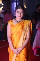Shalini Pandey in Beautiful Orange Saree Sleeveless Blouse Choli ~  Exclusive Celebrities Galleries 041.JPG
