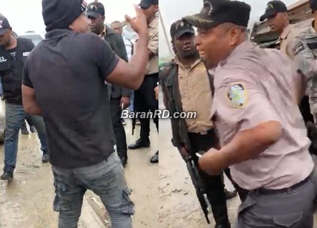Video: Coronel le da una trompada a representante de los Derechos Humanos