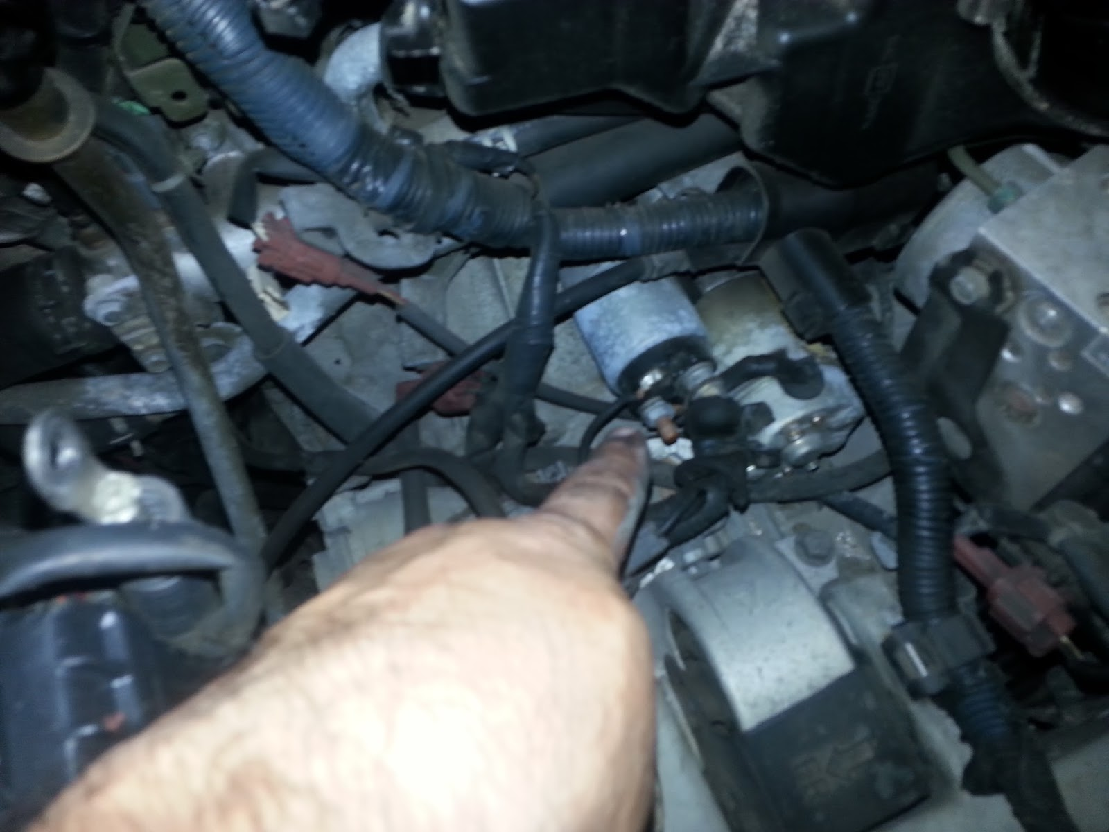 You Will See The Starter Then Remove Cable Connecting To Move Lines Out Of Way Can Loosen Bolt Toward