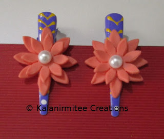 kalanirmitee: lamasa clay- clay flowers- hairclips