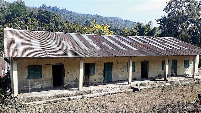 Closed Gyanoday Primary School in Gopaldhara-Rangbhang valley
