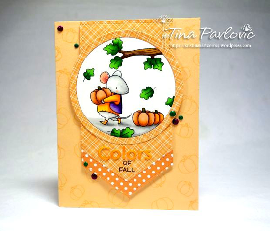 Harvest Buddies and Birdie Brown Harvest Mouse stamp sets and Color the Rainbow and Blueprints 28 Die-namics - Kristina Pavlovic #mftstamps