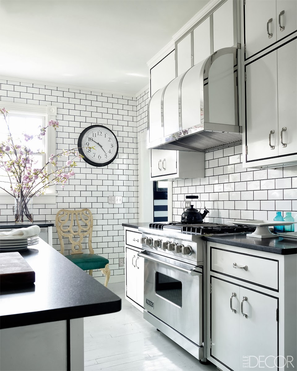 Black Kitchen Cabinets White Tile: COCOCOZY: OSCAR DE LA RENTA INSPIRED WEEKEND HOME