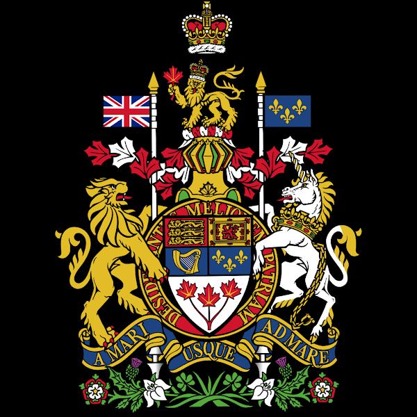 Logo Gambar Lambang Simbol Negara Kanada PNG JPG ukuran 600 px
