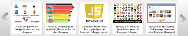 Demo băng hình ảnh ích bài viết gần đây (Recent Posts) dạng trượt ngang cho Blogspot Version 1