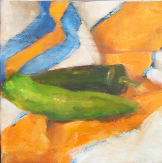 hot peppers oil painting daily painting