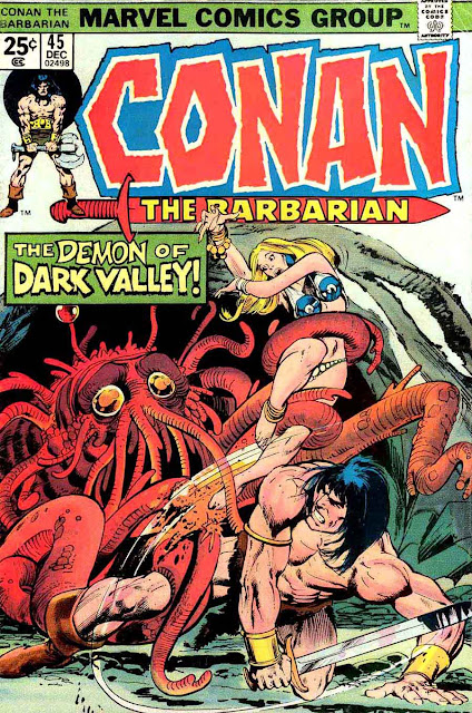Conan the Barbarian v1 #45 marvel comic book cover art by Neal Adams