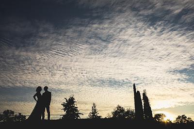 sposi tramonto