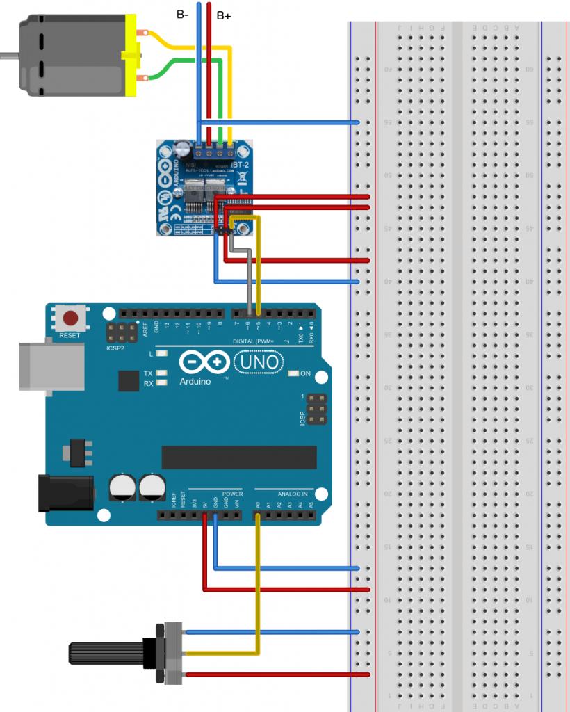 High Current Motor Driver H Bridge Module Ibt 2 Menggunakan Arduino Lab Elektronika
