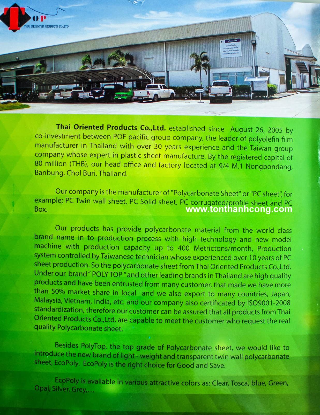Catalogue Tấm Lấy Sáng Polycarbonate Rỗng Ruột EcoPoly - Trang 3