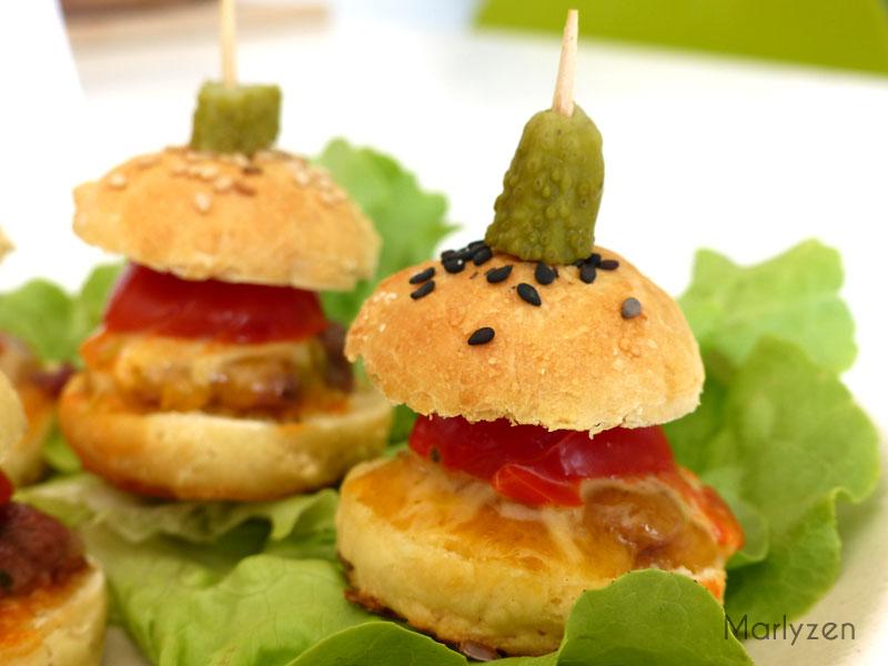 Mini burgers apéritifs