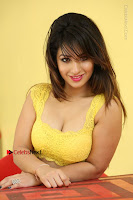 Cute Telugu Actress Shunaya Solanki High Definition Spicy Pos in Yellow Top and Skirt  0625.JPG